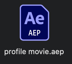 After Effects file